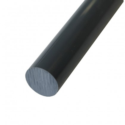 Teflon Rod Black PTFE Black Rod 55mm Diameter Carbon Filled PTFE