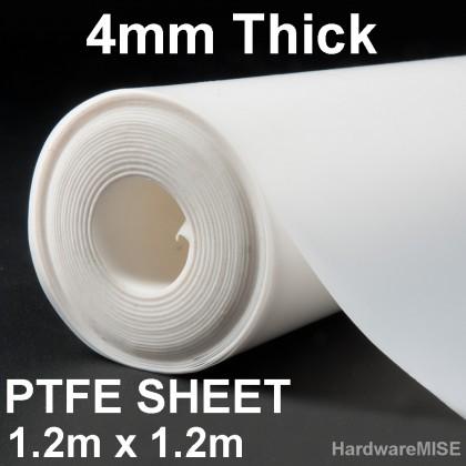 PTFE Sheet 4mm x 1.2m x 1.2m Teflon Sheet White Plate Film Malaysia Ready Stock