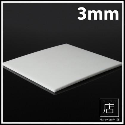 PTFE Sheet White Plate Film Thickness 3mm x 1m Width Teflon Sheet Malaysia Ready Stock