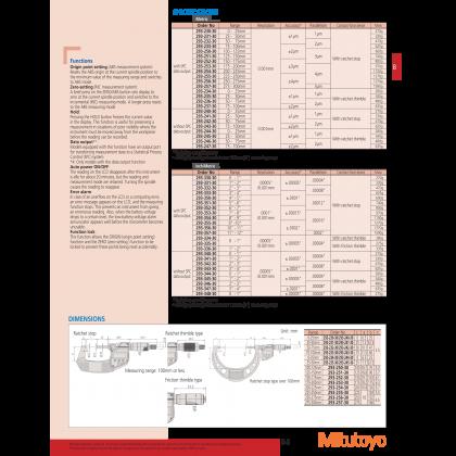 Mitutoyo Digital Micrometer IP65 Digimatic 293-241-30 Coolant Proof Micrometer 25-50mm