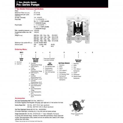 "ARO Pumps 6661A3-344-C Diaphragm Pump 1"" Non-Metallic Pro Series IR Ingersoll Rand"