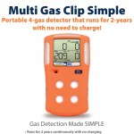Multi Gas Detector H2S / CO / O2 / LEL Gas Clip MGC-S