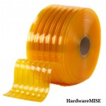 PVC Curtain Strip Clear Yellow Ribbed 2mm Thick Malaysia Supplier