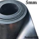 Neoprene Rubber Sheet 5mm Thick Black Color hardness 60 shoreA 1.2m Width