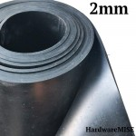 Neoprene Rubber Sheet 2mm Thick Black Color Hardness 60 shoreA 1.2m Width