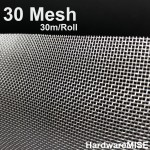 Stainless Steel Wire Mesh SS 304 Insect Netting 30 mesh 1.2m x 30m