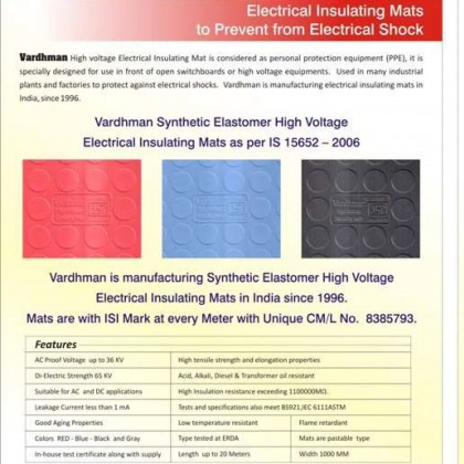 Electrical Insulation Rubber Mat 33kv Insulation Switchboard Rubber Mat Malaysia Supplier