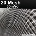 Stainless Steel Wire Mesh SS 304 Mosquito Netting 20 mesh 1.2m x 30m