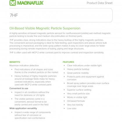 Magnaflux Magnavis 7HF AEROSOL Oil-Based Visible Magnetic Particle Suspension