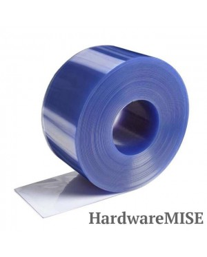 PVC Curtain Strip Clear Blue 2mm thick Loose Cut By Meter Run