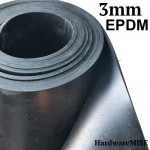 EPDM Rubber Sheet 3mm thick Black Colour 1.4m Width x 10m Length