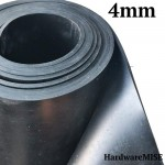 Neoprene Rubber Sheet 4mm Thick Black Color hardness 60 shoreA 1.2m Width
