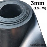 Neoprene Rubber Sheet 3mm Thick Black Color Hardness 60 shoreA 1.5m Width