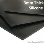 Silicone Rubber Sheet Black 3mm thick