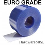 Euro Grade PVC Curtain Strip Clear Blue 2mm thick EU Type