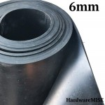 Neoprene Rubber Sheet 6mm Thick Black Color hardness 60 shoreA 1.2m Width