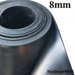 Neoprene Rubber Sheet 8mm Thick Black Color hardness 60 shoreA 1.2m Width