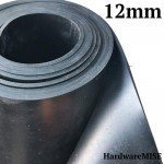 Neoprene Rubber Sheet 12mm Thick Black Color hardness 60 shoreA 1.2m Width