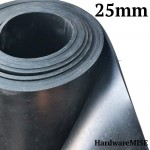 Neoprene Rubber Sheet 25mm Thick Black Color hardness 60 shoreA 1.2m Width