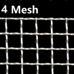Stainless Steel Wire Mesh SS 304 Netting 4 Mesh 304 Crimped Filtration Grill Sheet