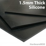 Silicone Rubber Sheet Black 1.5mm thick