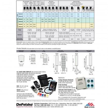 DeFelsko PosiTector 6000 F1 Ferrous Metal Coating Thickness Gauge Made In USA
