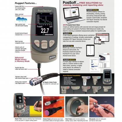 DeFelsko PosiTector 6000 FS1 Ferrous Coating Thickness Gauge Made In USA