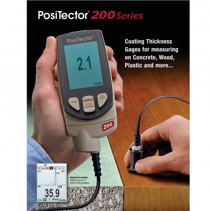 DEFELSKO PosiTector 200 B/Std Standard Coating Thickness Gage Over Wood Concrete Plastic