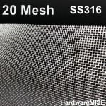 Stainless Steel Wire Mesh SS 316 Mosquito Netting 20 mesh SS316