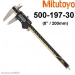 "MITUTOYO 500-197-30 Digimatic Caliper W/O SPC Output Range 8"" / 200MM MADE IN JAPAN"