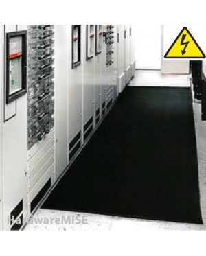 Corrugated Electrical Safety Rubber Mat Ribbed Electrical Insulation Mats 15KV 3mm Thick