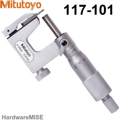 Mitutoyo 117-101 Interchangeable Anvil Micrometer 0-25mm Range 0.01mm Graduation Malaysia Supplier