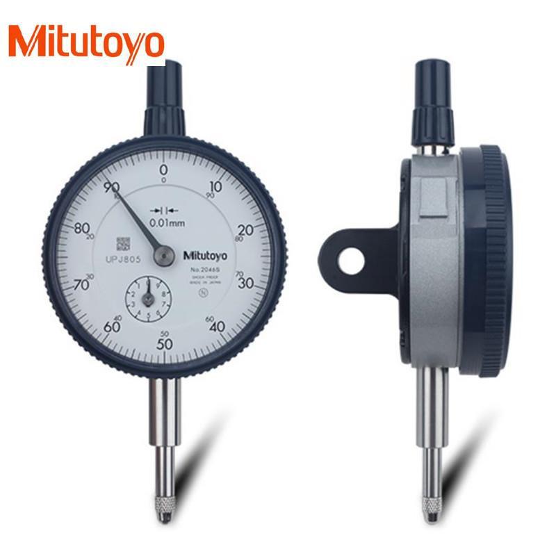 Mitutoyo 2046S 0.01mm X 10mm Dial Indicator 0-100 Lug Back Series 2 8mm Stem